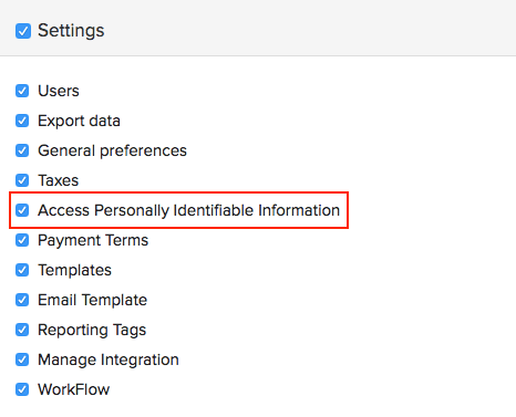 Permission to access personally identifiable information