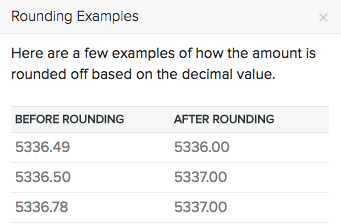 General Preferences - Round Off Total Examples