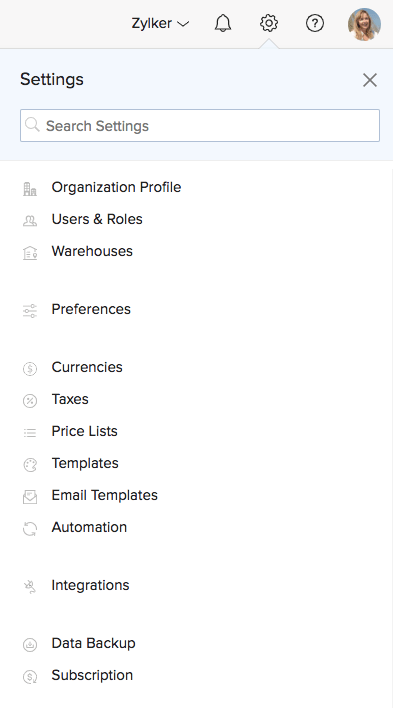 Image of accessing preferences