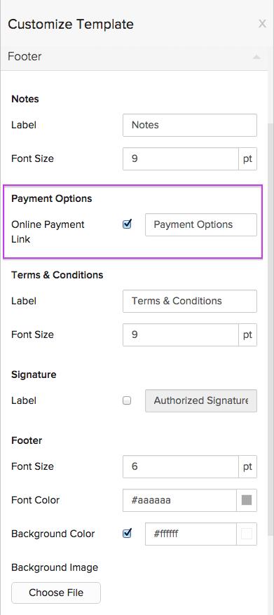 Invoice Specific