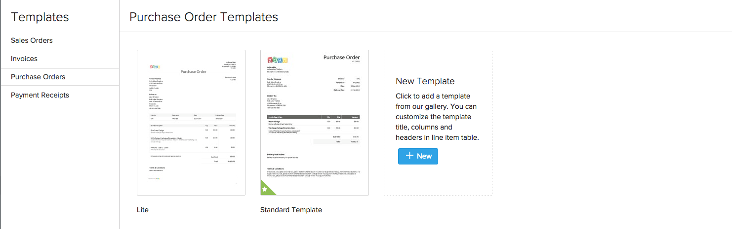 Purchase Orders template