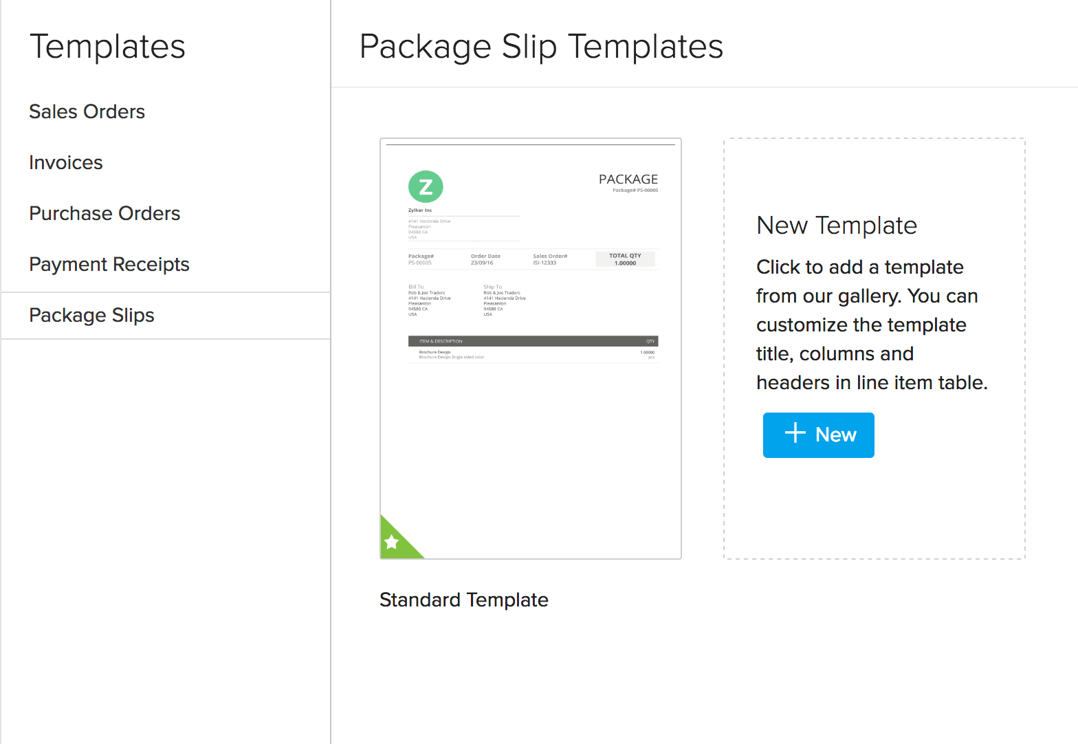 package slip template