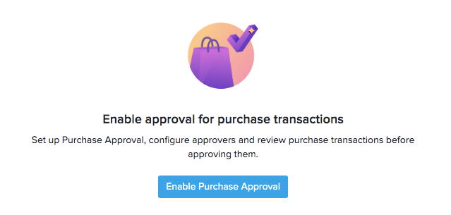 Enable Purchase Approval button