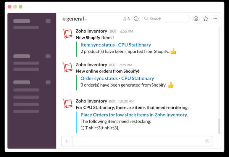 Notifications in Slack