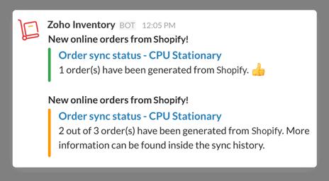 Orders Sync in Slack