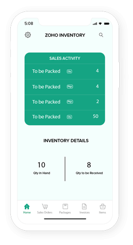 Mobile App | Online Order Management System - Zoho Inventory