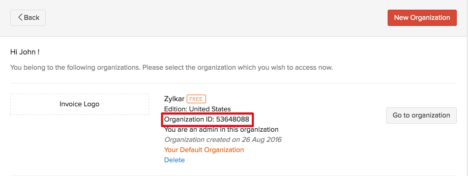 Organization ID