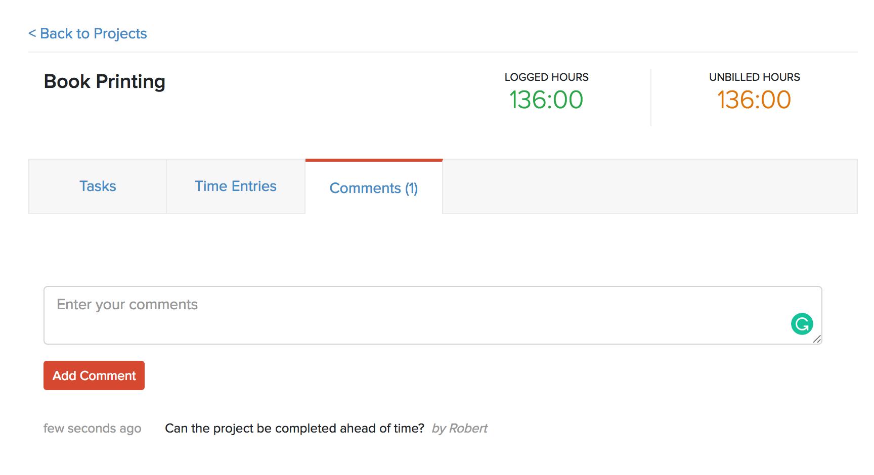 Client Comment Project