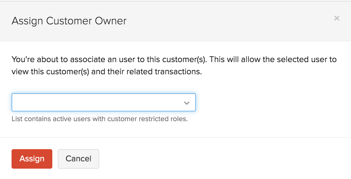 Assign Customer Owner to Customers