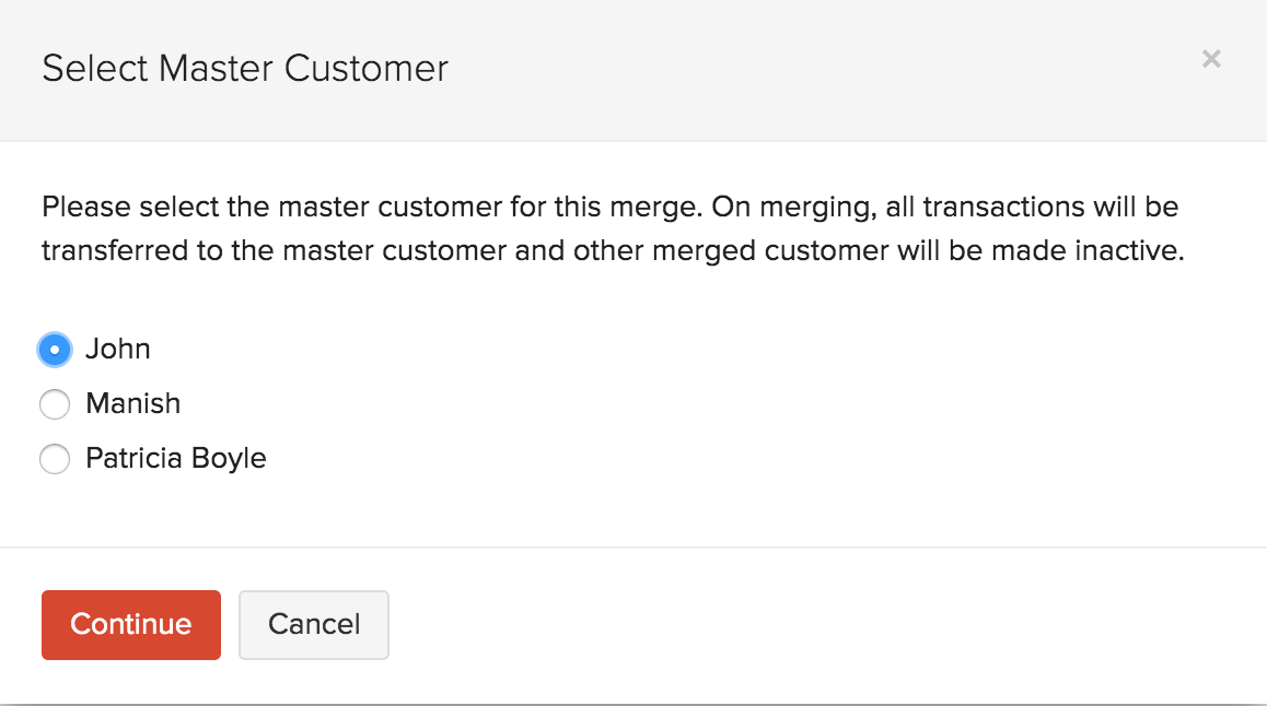 Merge Multiple Customers