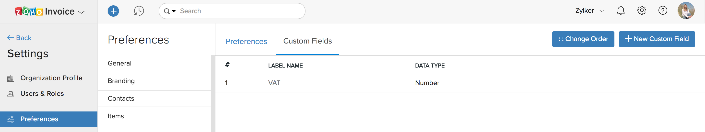 Custom Fields Tab