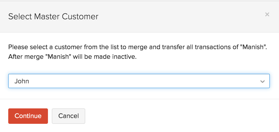 Merge Two Customers