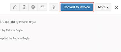 Convert to Invoice