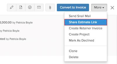 Sharing an Estimate Link