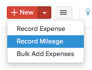 Record Mileage Drop-Down