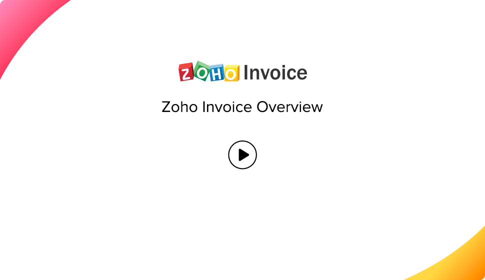 Setting Up Zoho Invoice Help Zoho Invoice - How to make an invoice for your company