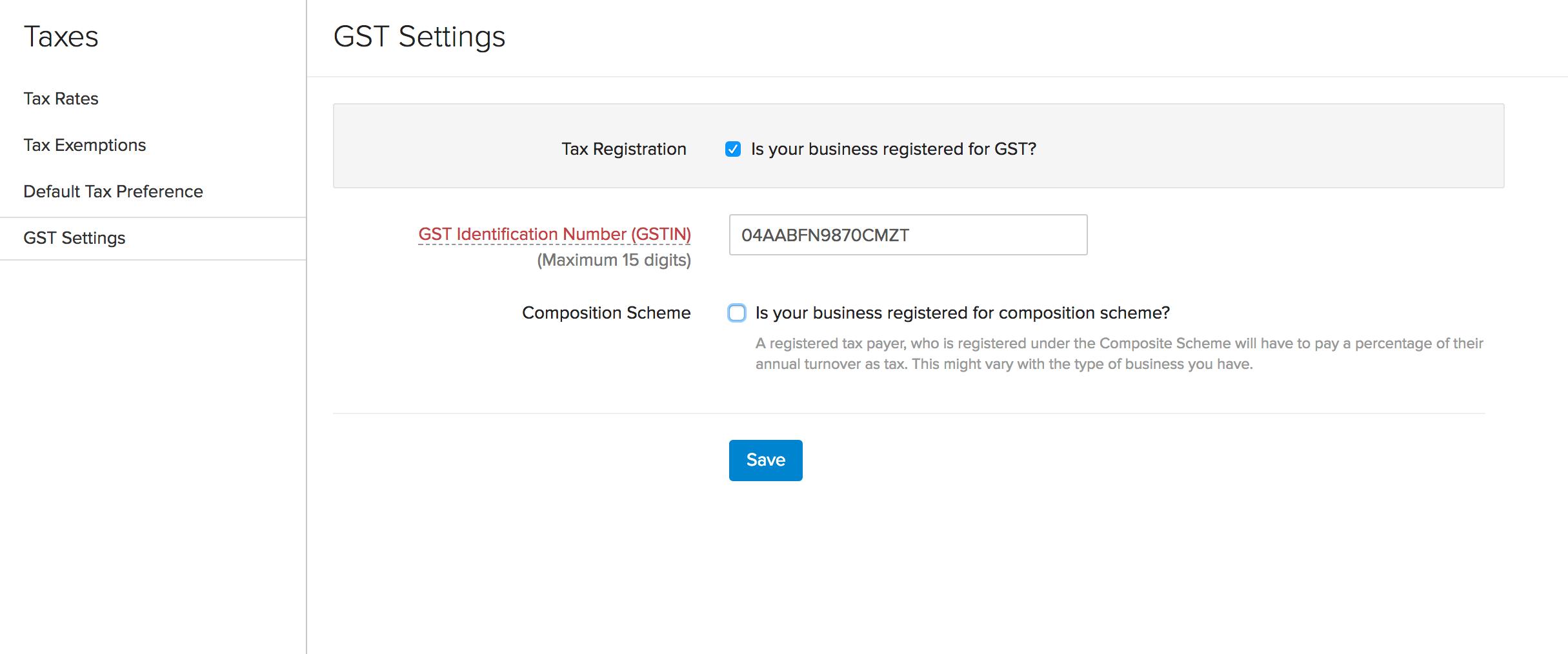 GST | User Guide | Zoho Invoice