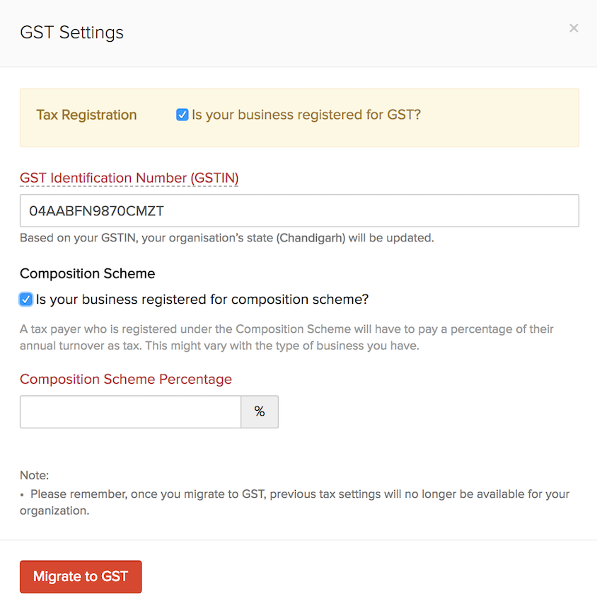 Enable GST Settings