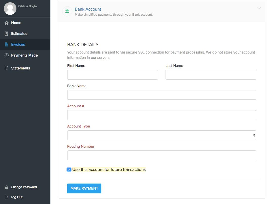 Ach client portal account