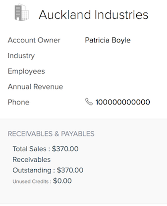Receivables and Payables summary