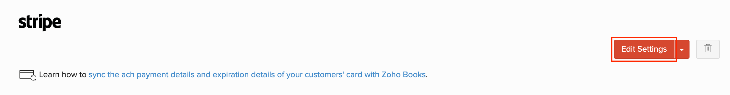 Stripe ACH Payments | Help | Zoho Invoice