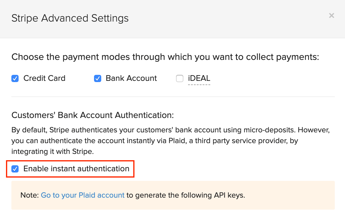 Enable Instant Authentication
