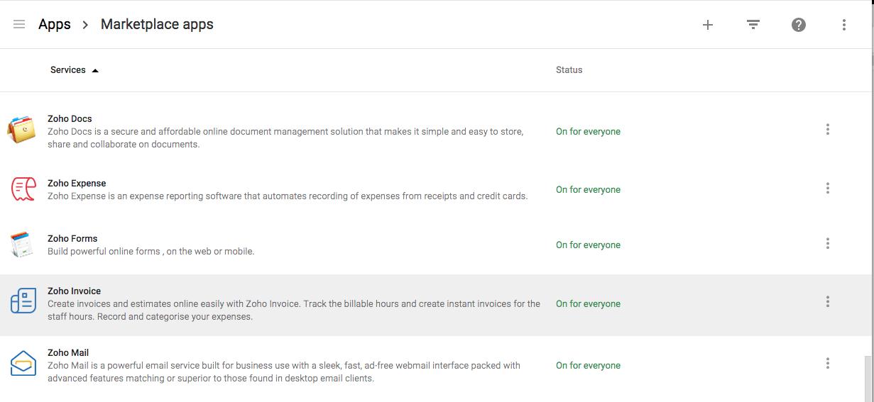 Zoho Invoice - G Suite integration | Help - Zoho Invoice