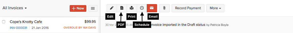 Email invoices to customers