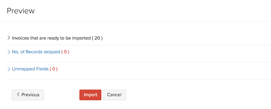 Importing Invoices - Final Confirmation