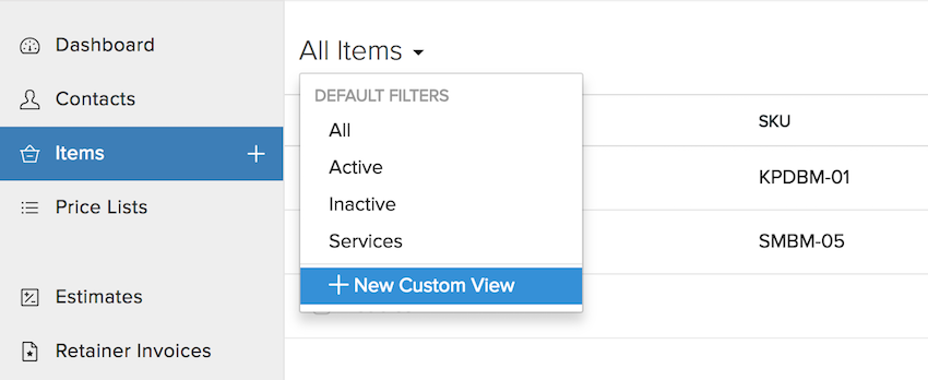 Filter Dropdown Image
