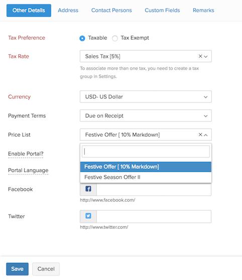 Select Price List Image