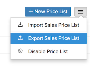 Export - Select Option