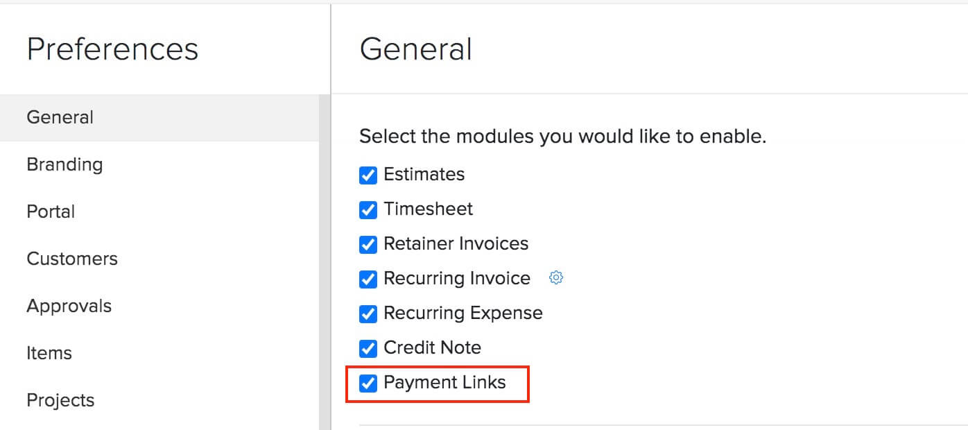 Enable Payment Links