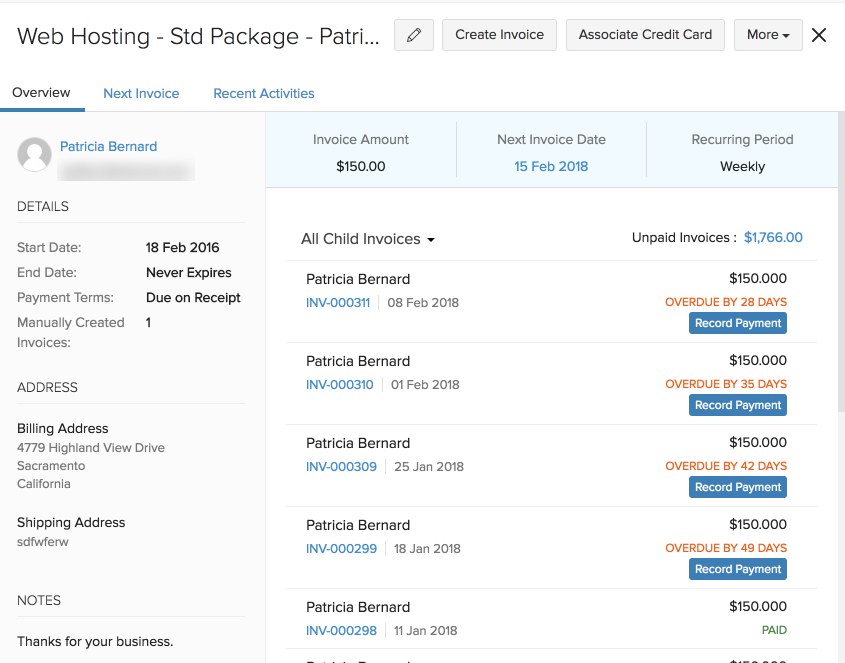 create recurring invoices import and export recurring invoices