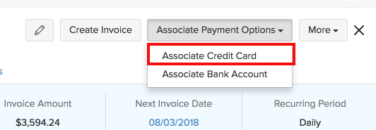 Receiving Payments Auto-charge