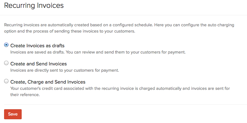 Preferences for Sending Invoices