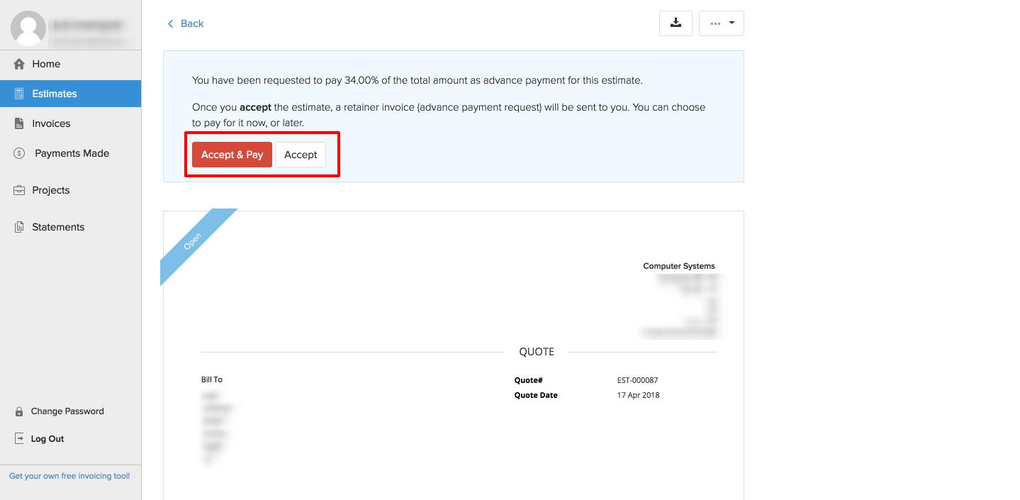 Retainer Client Portal