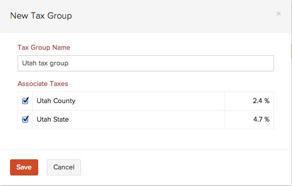 Create a new tax group