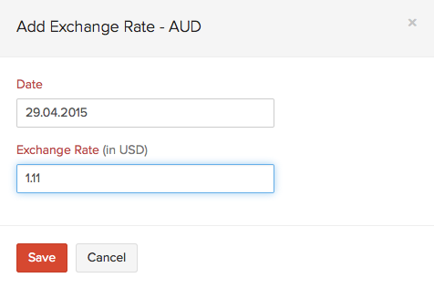 Adding exchange rate
