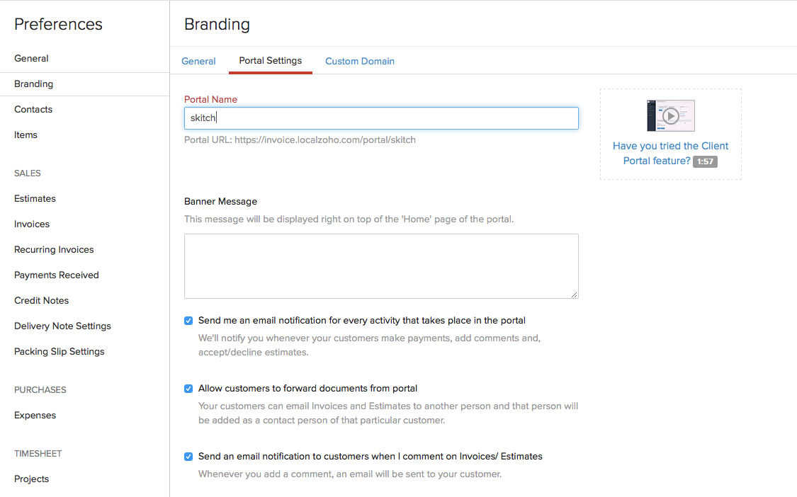 Branding Portal