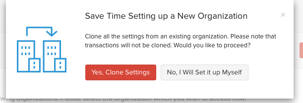 Clone settings
