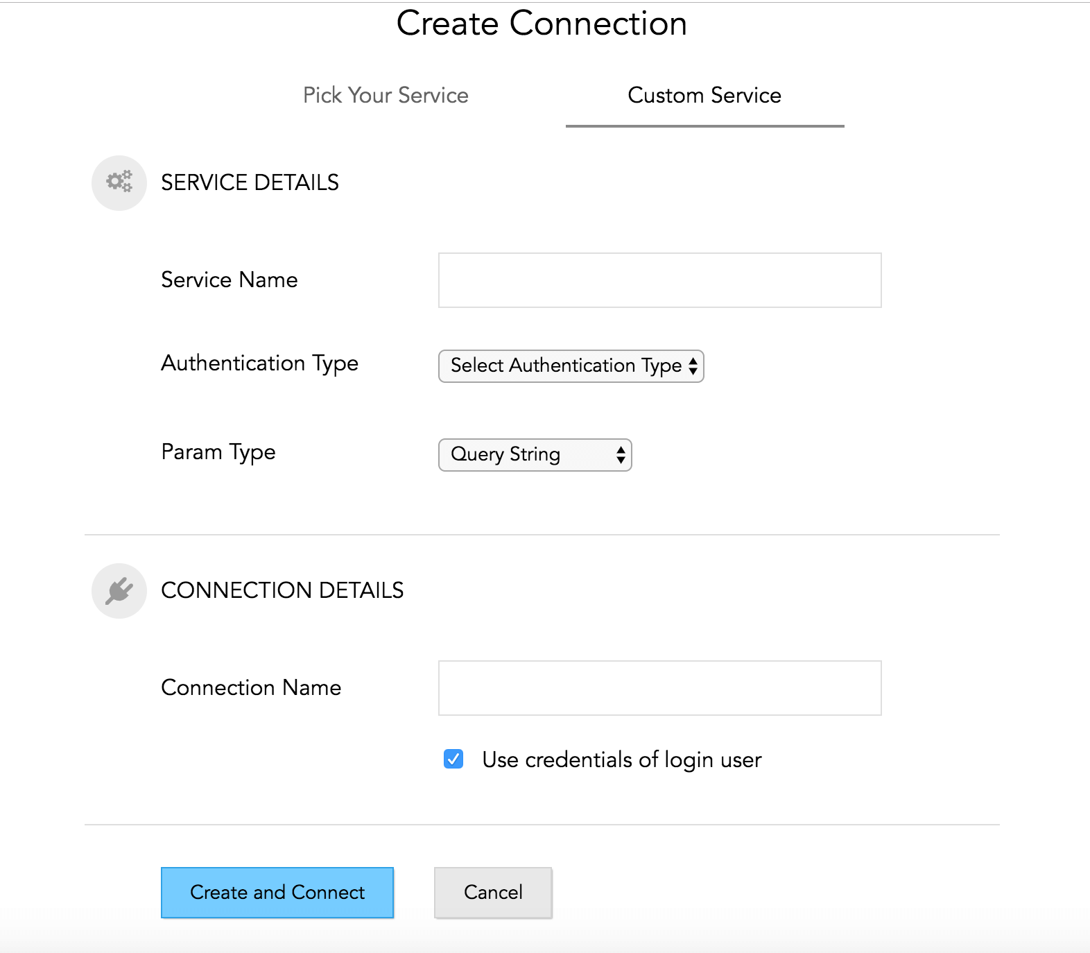 New Custom Connection