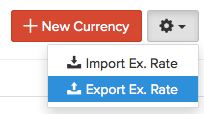 Currency - Export