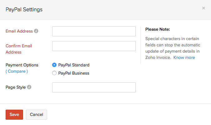 Setting up PayPal