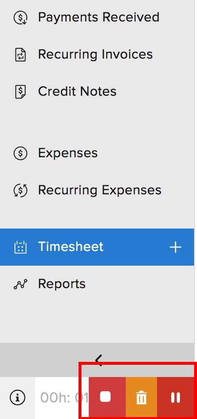 Timesheet Discard Timer