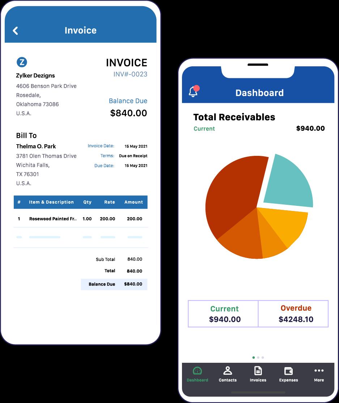 Invoice app for mobile phones - Zoho Invoice