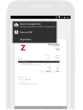 Online Invoicing App Android App Zoho Invoice - Printable invoice app