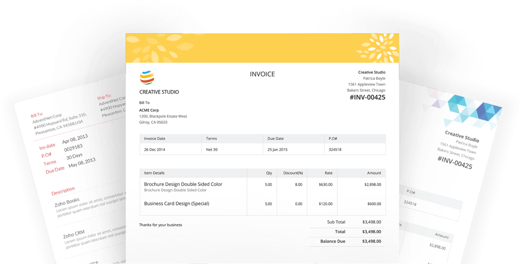 Invoicing For Creative Designers Zoho Invoice