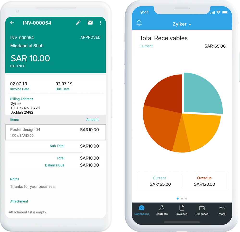 Invoice app for mobile phones - Zoho Invoice