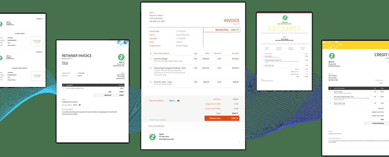 Customize invoice template - Zoho Invoice
